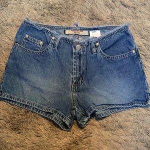 💋 4/$30 Paris blues denim low rise short shorts